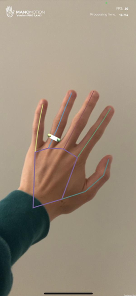 Manomotion Virtual Ring Try-on with skeleton